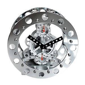 Modern Mechanical Gear Tabletop Clock 8""