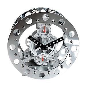 """Modern Mechanical Gear Tabletop Clock 8"""""""