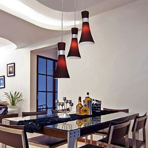 Modern Metal 3-Light Pendant Light Streamline Dedigned