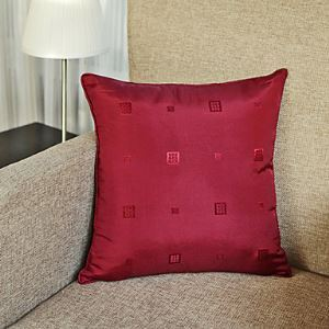 Modern Style Decorative Pillow Cases in Red
