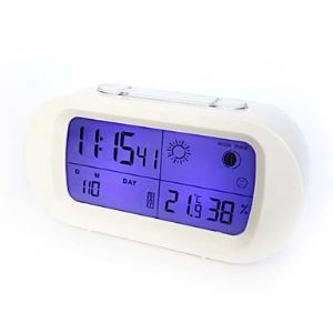 (In Stock) Modern Style Large Screen LCD Mute Alarm Clock 5.5""