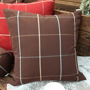 Modern Style Plaid Polyester Decorative Pillow Cases