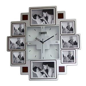 Modern Wall Clock with Picture Frame 15.5""