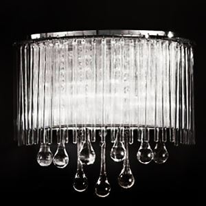 Modern Wall Lights with 2 Lights in Crystal Droplets Design