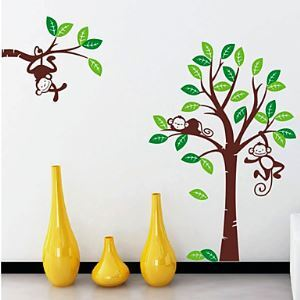 Monkey Tree Wall Stickers Wall Stickers