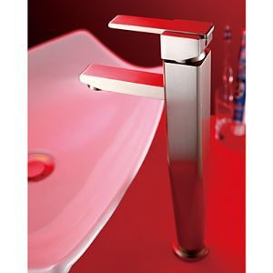 Modern Nickel Brushed Finish Solid Brass Bathroom Sink Faucet