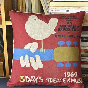 Music Cotton Decorative Pillow Cover 1