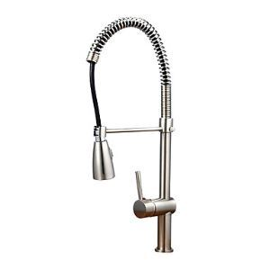 Contemporary Nickel Brushed Finish Kitchen Faucet