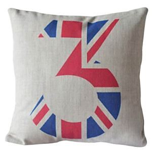Number Three Cotton/Linen Decorative Pillow Cases 006