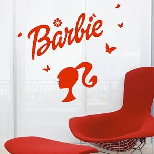 Nursery Barbie Head Logo Wall Stickers