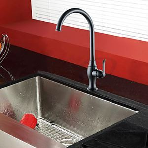 Painting Finish Brass Single Handle Kitchen Faucet