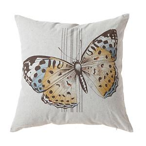Pastoral Butterfly Print Decorative Pillow Cover