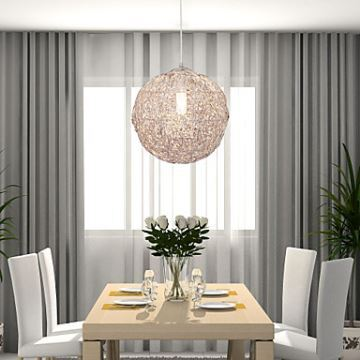 Modern Mini Style Globe Pendant Light Chrome 1 Light In Ball Shape Bedroom  Dining Room Lighting Ideas Living Room
