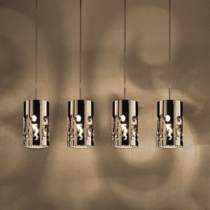 Pendant Light with 4 Lights in Steel