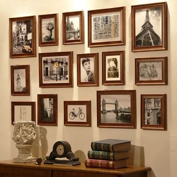 home decor picture frames photo wall frame set collection set of 15 fz 015