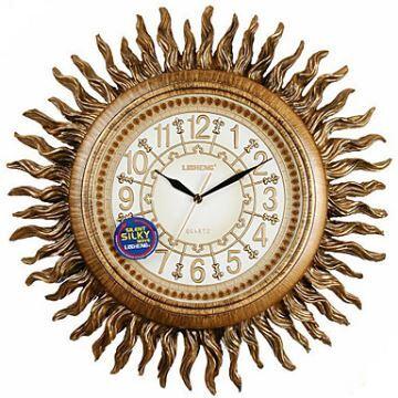 home decor decorative clocks european style wall clock 19antique inspired sunburst polyresin wall clock - Decorative Clocks