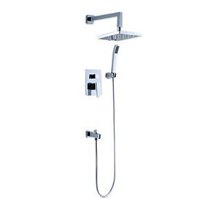 Rainfall Chrome Wall-mount Shower Faucet 0572-DS-6107