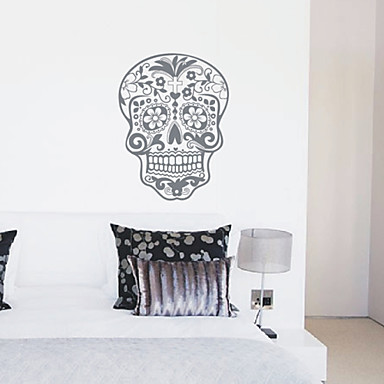 ... - Wall Art - Wall Stickers - Removable Skull Nature Wall Stickers