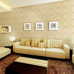 Retro Damask PVC Wall Paper 1301-0023