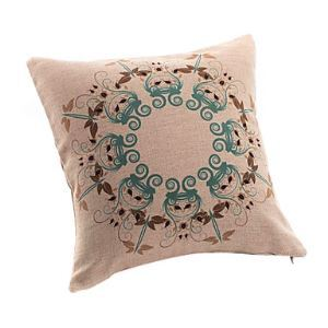 Retro Floral Loop Decorative Pillow Cover