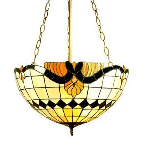Roman 3-light Tiffany Inverted Pendant Light (0923-TF-P15)