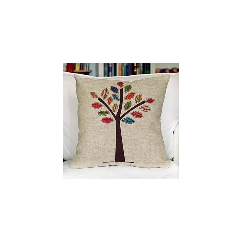 Christmas Decorative Pillow Cases : Gifts - Christmas Supplies - Colorful Tree Cotton Decorative Pillow Cover & Case for Christmas ...