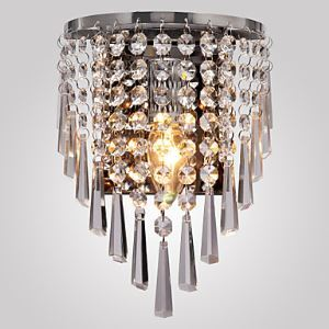 (In Stock)Semi Circular Wall Light in Crystal Feature