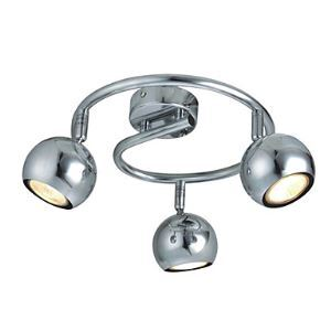 (In Stock) Modern Semi Flush Mount Light with 3 Lights - Downward (Gu10 Bulb Base)