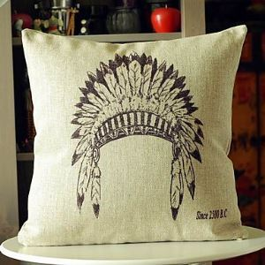 Indians Hat Cotton  Decorative Pillow Cases for Christmas Holiday Decor Christmas Pillow Christmas Gifts