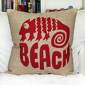 Beach Cotton Decorative Pillow Cases for Christmas Holiday Decor Christmas Pillow Christmas Gifts