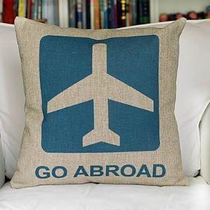 Go Abroad Cotton Decorative Pillow Cases
