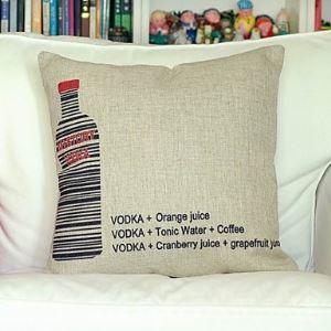 Vodka Cotton Decorative Pillow Cases