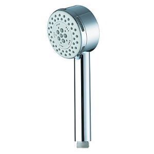 Single Function Circle Chrome Finish ABS Handle Shower Head