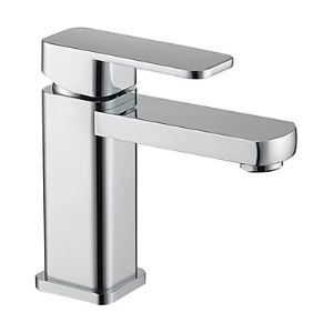 Contemporary Centerset Chrome Finish Solid Brass Single Handle Bathroom Sink Faucet