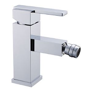 Contemporary Single Handle Brass Bidet Faucet - Chrome Finish
