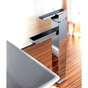 Chrome Finish Brass Bathroom Sink Faucet (Tall)