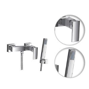 Contemporary Tub Shower Faucet with Hand Shower
