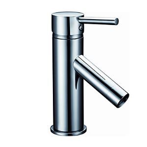 Centerset Contemporary Chrome Finish Solid Brass Bathroom Sink Faucet