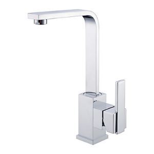 Contemporary Brass Kitchen Faucet - Chrome Finish
