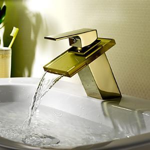 Waterfall Bathroom Sink Faucet (Ti-PVD Finish)