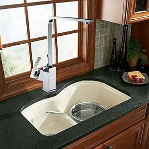 Solid Brass Chrome Finish Single Handle Contemporary Kictchen Faucet