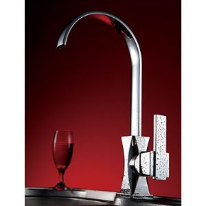 Solid Brass Modern Kitchen Faucet (Chrome Finish)