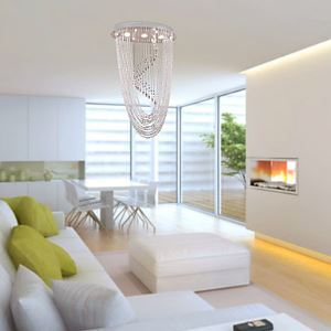 Contemporary Crystal Chandelier with 3 lights - Lyrate Design