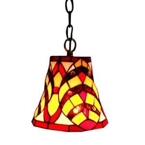 Square Pattern Tiffany Mini Pendant Light (0864-HZ0895)