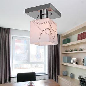 Stainless Steel Ceiling Light in Cube Shape