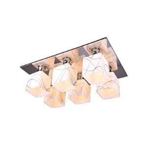 Stainless Steel Ceiling Light with 6 Lights in Cube Shape