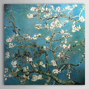 Canvas Oil Paintings Almond Branches in Bloom San Remyc.1890 by Vincent Van Gogh Hand-Painted Ready to Hang