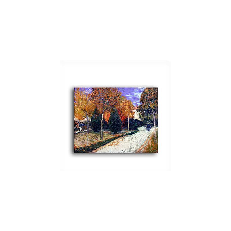 Hand-painted Oil Painting Path in the Park at Arles,c.1888 by Vincent Van Gogh with Stretched Frame