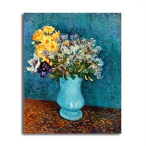 Hand-painted Vase of Lilacs,Daisies and Anemones,c.1887 Oil Painting by Vincent Van Gogh  without Frame