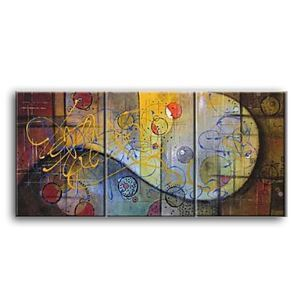 Hand-painted Abstract Oil Painting without Frame - Set of 3